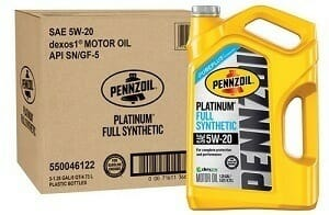 Pennzoil 550046122-3PK Platinum 5W-20 Full Synthetic Motor Oil