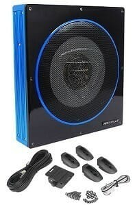 "Rockville RW10CA 10"" Slim Low Profile Active Powered Car Subwoofer"