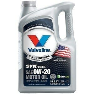 Valvoline 0W-20 SynPower Full Synthetic Motor Oil