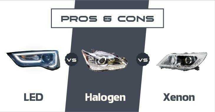 LED vs Halogen vs Xenon
