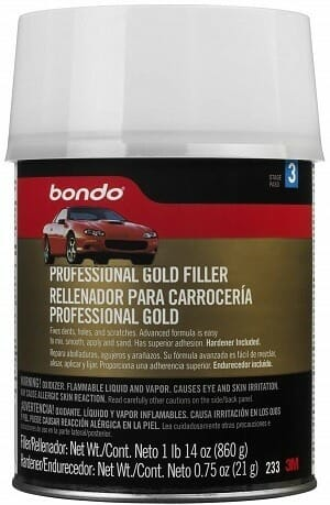 3M Bondo Professional Gold Body Filler