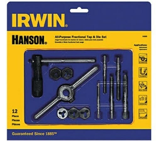 Irwin Tools 24605 Fractional Tap and Die Set