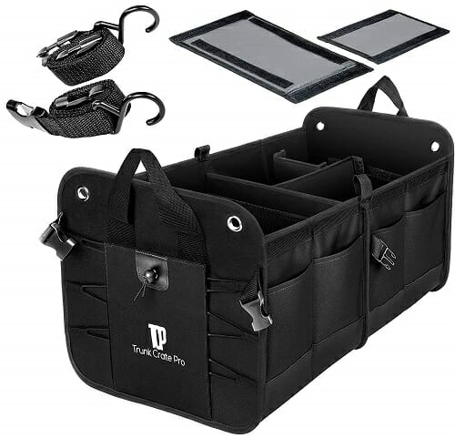 Trunkcratepro Portable Multi Compartments Trunk Organizer