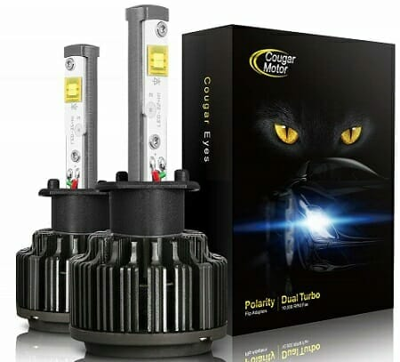 Cougar Motor LED Headlight Bulbs Plus Conversion Kit