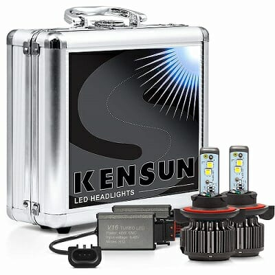 Kensun Extreme Cree LED Headlight Bulbs with Carrying Case