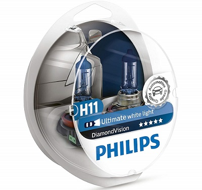 Philips DiamondVision Super White Halogen Headlight Bulbs