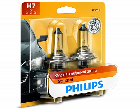Philips H7 Standard Replacement Halogen Headlight Bulb
