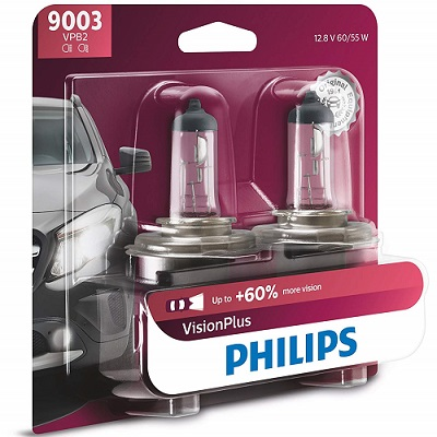 Philips VisionPlus 2-Pack Halogen Headlight Bulbs