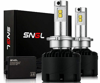 SNGL Super Bright 2-Pack LED Headlight Bulb Conversion Kit