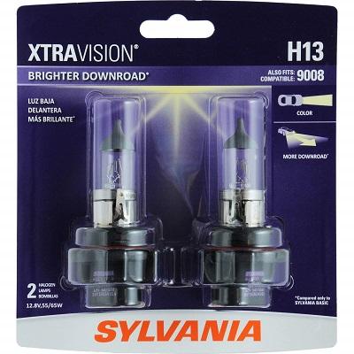 Sylvania H13 Xtravision Halogen Headlight Bulb