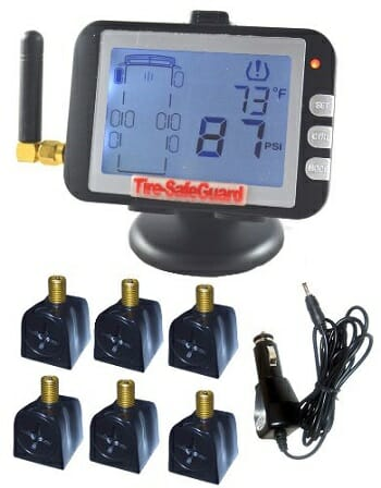 Tire-Safeguard RV 6-Tire Flow-Through Sensor-Tire Pressure Monitoring System