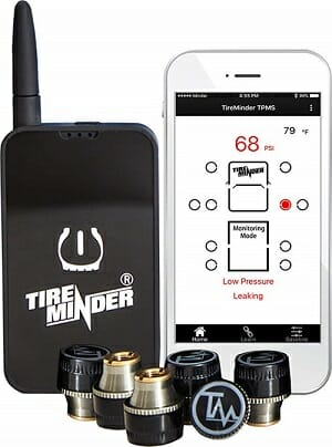 TireMinder Smart Tire Pressure Monitoring System with 6 Transmitters