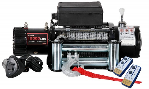 X-Bull 12V Steel Cable Electric Winch