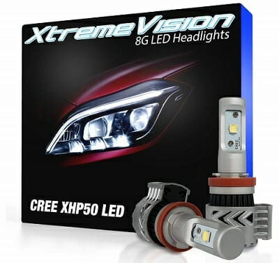 XtremeVision 12,000-Lumen LED Headlight Bulbs