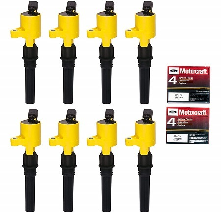 King Auto Parts Motorcraft Set of 8 Ignition Coil