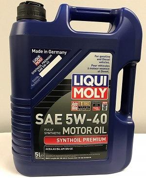 Liqui Moly 2041 5W-40 Premium Synthetic Oil