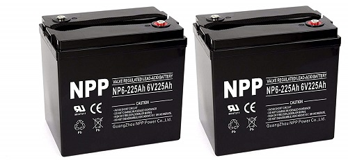 NPP NP6-225AH AGM Deep Cycle Battery
