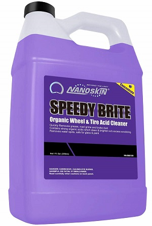 Nanoskin NA-SBE128 Speedy Brite Organic Wheel & Tire Acid Cleaner