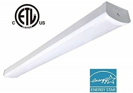 Oooled 48-Watt Wraparound Garage Lighting