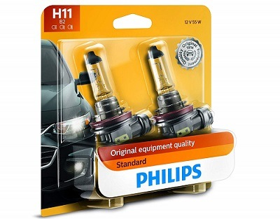 Philips H11 Standard Replacement Headlight Bulb