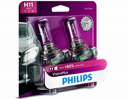 Philips H11 VisionPlus Upgrade Bulb