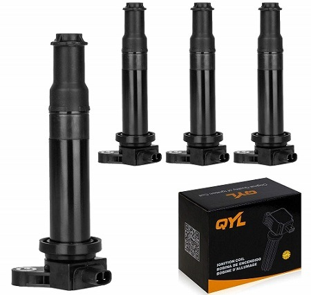 QYL Pack of 4 Ignition Coil