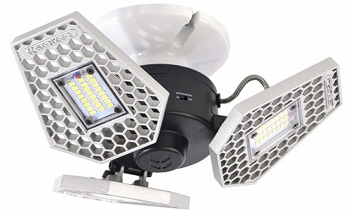 Striker Concepts Trilight Motion-Activated LED Garage Lighting