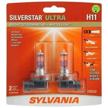 Sylvania H11 Silverstar Ultra High-Performance Headlight Bulb