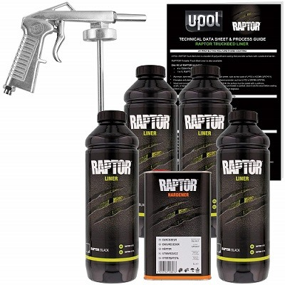 U-Pol Raptor Black Urethane Spray In Bedliner