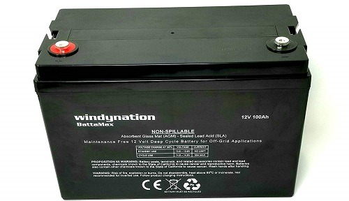WindyNation 100AH 12V Deep Cycle Seal Lead-Acid Battery