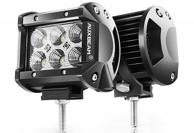 Auxbeam 4-Inch 18W Flood LED Pods Pack of Two