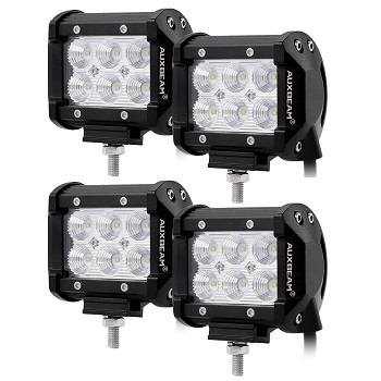 Auxbeam 4-Inch Flood Beam 4-Pack LED Pods