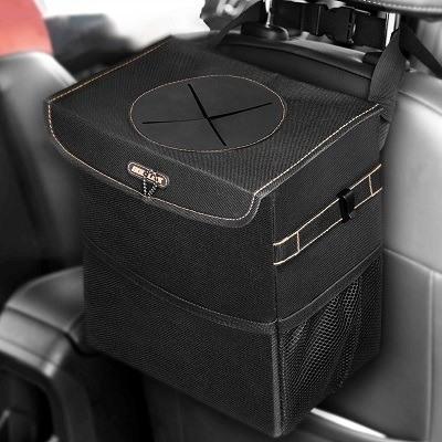 BoltLink Leakproof Car Trash Can & Bag with Lid