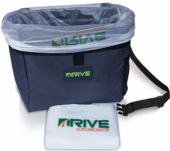 Drive Auto Products Strap-On Car Trash Can & Bag