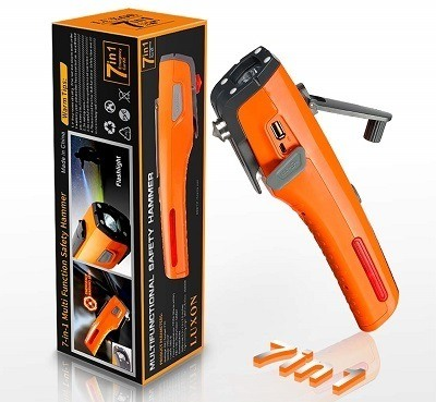 Luxon 7-In-1 Emergency Tool Kit & Car Escape Tool