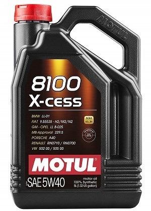 Motul 007250 8100 X-cess Synthetic Motor Oil