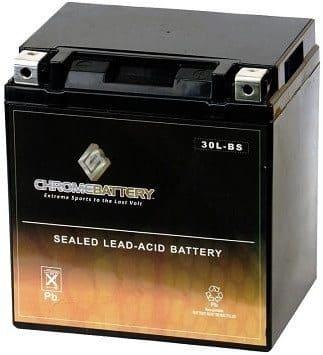 Chrome Battery YTX30L