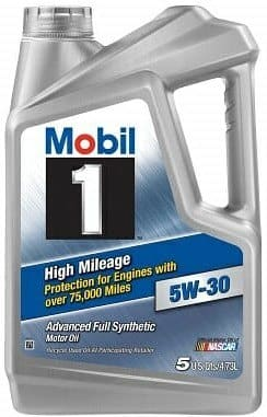 Mobile 1 120769 5W-30 High Mileage Synthetic Engine Oil