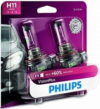 Philips H11 VisionPlus Upgrade Bulb