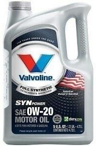 Valvoline 0W-20 SynPower Full Synthetic Motor Oil