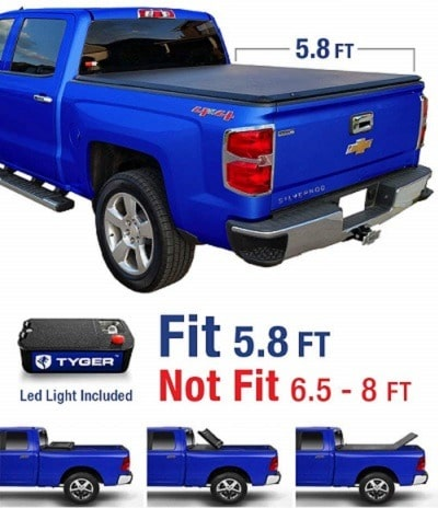 Tyger Auto TG-BC3C1006 Tri-Fold Truck Bed Cover