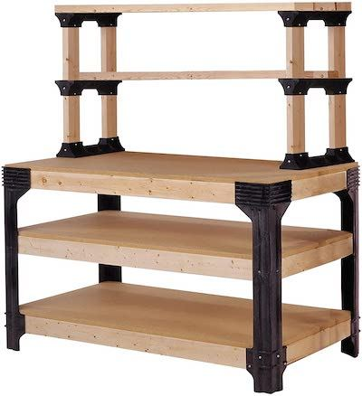 2x4 Basics 90164 Customizable Workbench With Shelves